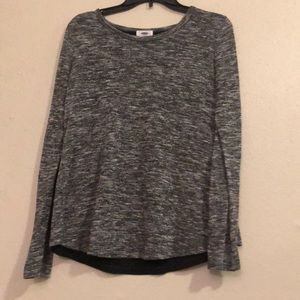 Heather gray shirt with cross back detail
